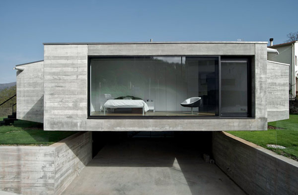 Concrete: a big feature in modern architecture.